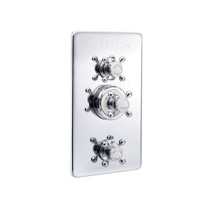 St James Concealed Classical Thermostatic Shower Valve with Integral Flow Valves - SJ7751-LH